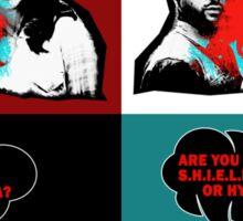 are you shield of hydra? pop art Sticker