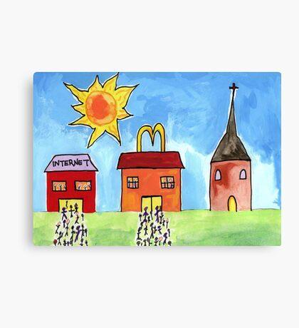 Easter Queues Canvas Print