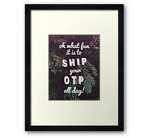 Oh What Fun it is To Ship Framed Print