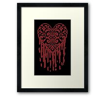 Bleeding Tiled Heart Framed Print