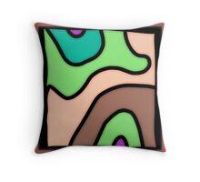 Wavy abstract modern design Throw Pillow