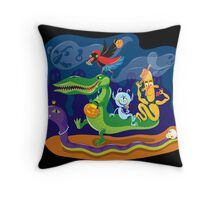 Halloween Procession Throw Pillow
