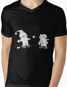 Snow Skellies Mens V-Neck T-Shirt