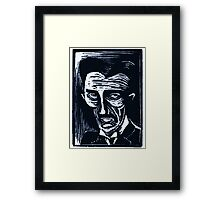 tesla (version 1 blue) Framed Print