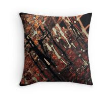 Orange, brown, black, ABSTRACT ART, gifts and decor Throw Pillow