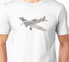 Submarine Spitfire Aircraft Unisex T-Shirt