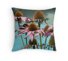 Purple Coneflowers  Throw Pillow