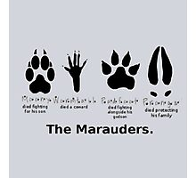 Marauders Animagus Footprint  Photographic Print