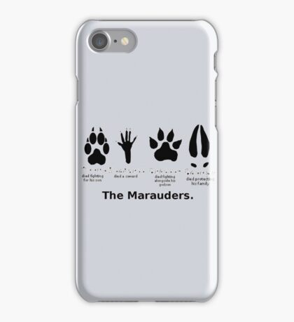 Marauders Animagus Footprint  iPhone Case/Skin