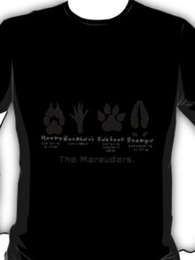 Marauders Animagus Footprint  T-Shirt