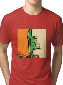 Abstract orange and green ART Tri-blend T-Shirt