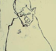 fara monotype - 2 minute portrait  by donnamalone