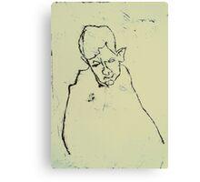 fara monotype - 2 minute portrait  Canvas Print