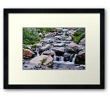 Mount Rainier's Myrtle Falls Framed Print