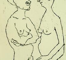 fara monoprint 2 figures by donnamalone