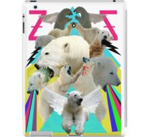Flying Polar Bears Vomit Rainbows and Black Lightning iPad Case/Skin