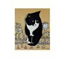 Tuxedo Cat... Art Print