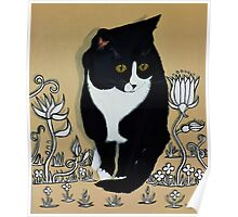 Tuxedo Cat... Poster