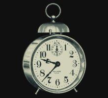 antique typographic vintage alarm clock Kids Tee