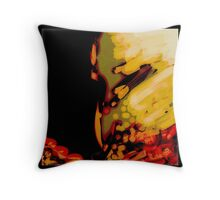 Modern red and gold abstract art, gifts and decor Throw Pillow