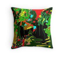 GARDEN abstract ART Throw Pillow