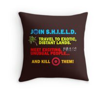Join SHIELD Throw Pillow