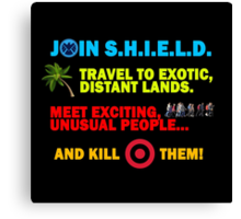 Join SHIELD Canvas Print