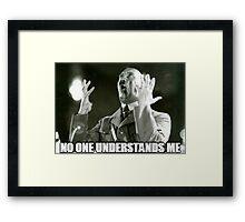 No One Understands Hitler Framed Print