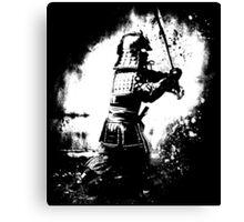 Samurai  (white) Canvas Print