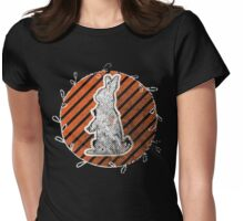 White Rabbit Enjoying the Sunset Womens Fitted T-Shirt