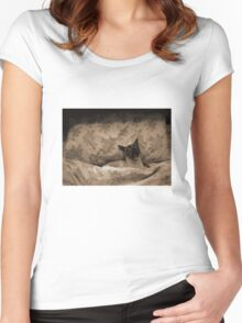 Lazy Sunday morning Women's Fitted Scoop T-Shirt