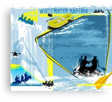 Whitewater Rafting Canvas Print