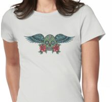 Flying Sugar Skull Womens Fitted T-Shirt