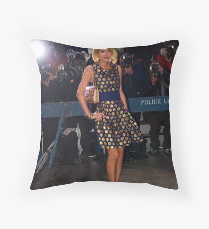 Paris Hilton  Throw Pillow
