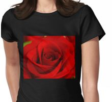 Soft Red Rose Womens Fitted T-Shirt