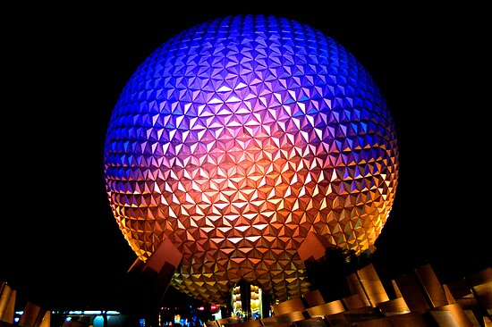 Epcot at Night by Tim Ray