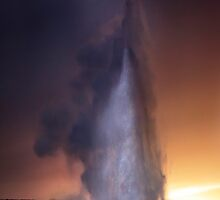 Old Faithful at Sunset by Alex Preiss