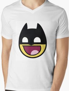 The Dark Knight Awesome Smiley Mens V-Neck T-Shirt