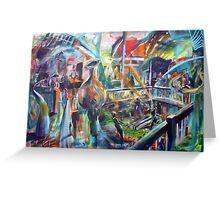 Lucas Sulton - GLASSBLOWER -artist Bob Gammage Greeting Card