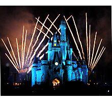 Magic Kingdom Fireworks Photographic Print