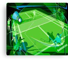 Badminton Canvas Print
