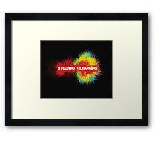 Studying < Learning Framed Print