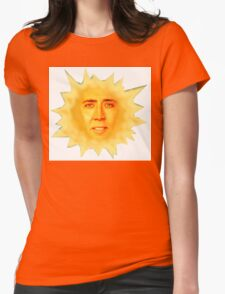 Nicolas Cage Teletubbies Sun Womens Fitted T-Shirt