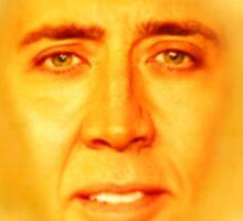 Nicolas Cage Teletubbies Sun Sticker