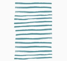 Simple Stripes - Aqua One Piece - Long Sleeve