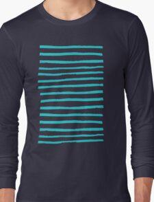 Simple Stripes - Aqua Long Sleeve T-Shirt