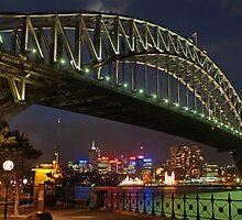 Sydney Harbour Bridge at night by simonwoolley