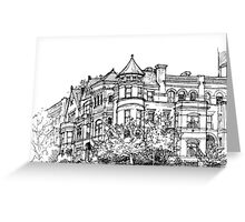 Street corner in Washington Greeting Card