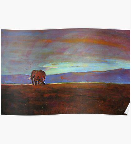 Ngorongoro Sunset Poster