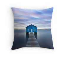 Sunrise at Matilda Bay Boatshed in Perth, Western Australia Throw Pillow